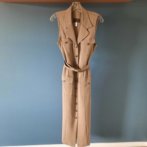 Algo faux suede taupe/beige sleeveless dress